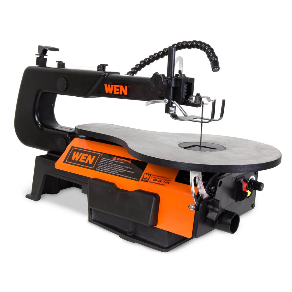 Wen 1 2 Amp 16 In 2 Direction Variable Speed Scroll Saw