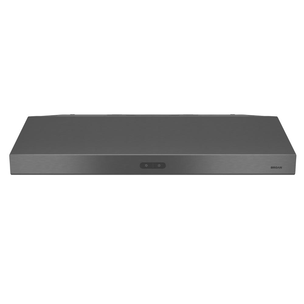 Glacier Deluxe 30 in. Convertible Range Hood in Black Stainless