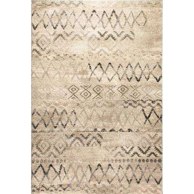 Lucy Beige 5 ft. x 8 ft. Indoor Area Rug
