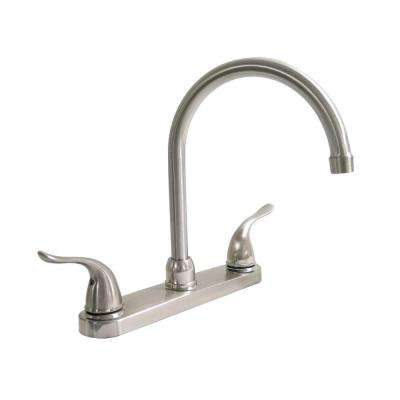 Dominion 2-Handle Standard Kitchen Faucet in Brushed Nickel