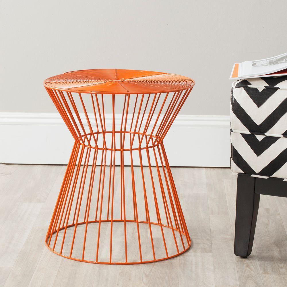 Adele Orange End Table