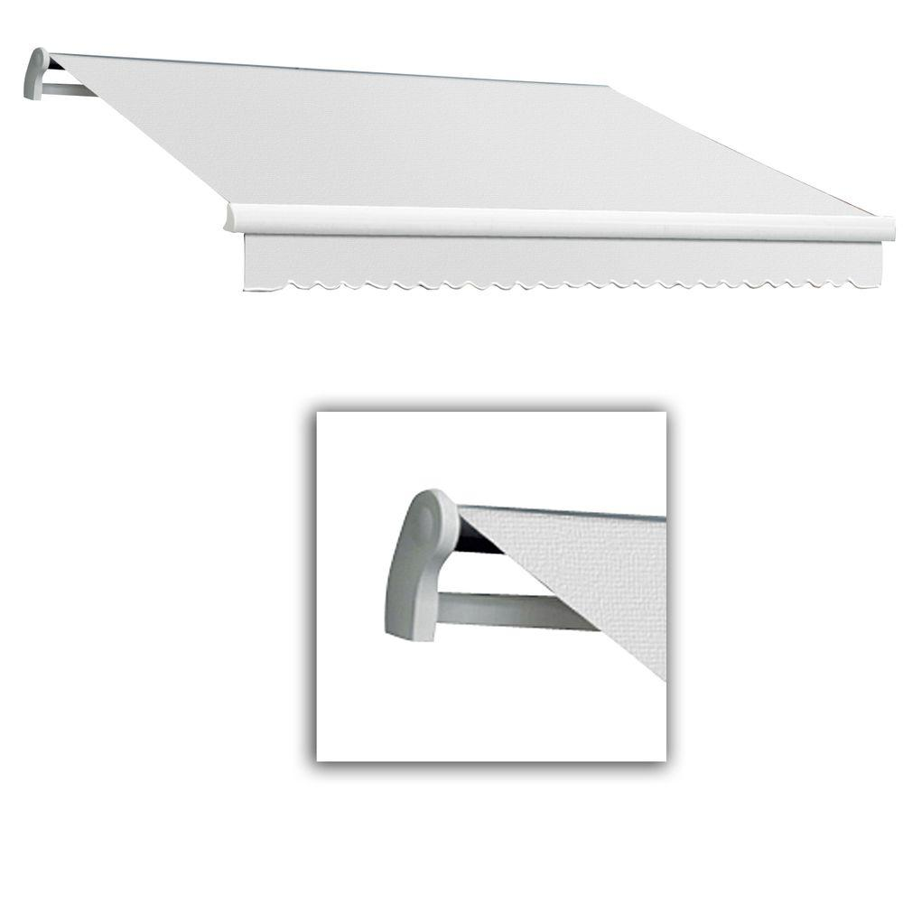 AWNTECH 24 ft. LX-Maui Left Motor with Remote Retractable Acrylic Awning (120 in. Projection) in Off White