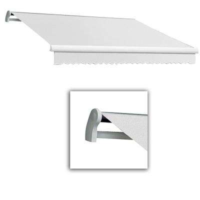 10 ft. Maui-LX Left Motor with Remote Retractable Awning (96 in. Projection) Off White