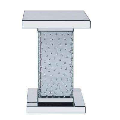 Nysa Mirrored and Faux Crystals End Table