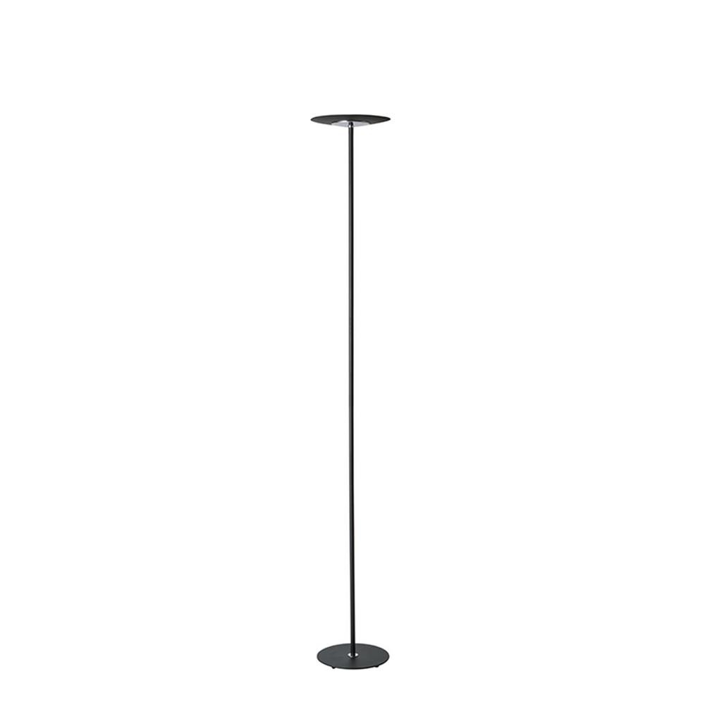 Ore international 72 in matte black led torchiere floor for Led torchiere floor lamp with dimmer