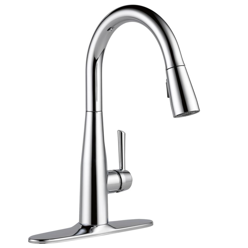 Delta Essa Single Handle Pull Down Sprayer Kitchen Faucet With