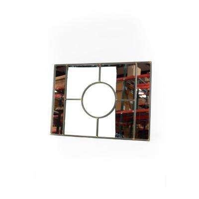 Rectangle Black Iron Frame Decorative Wall Mirror