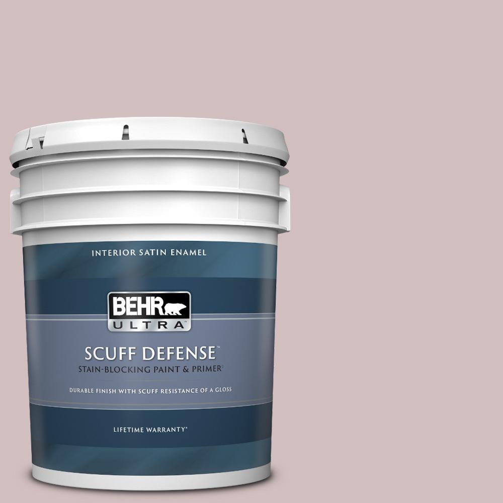 Behr Ultra 5 Gal 110e 3 Dusky Violet Extra Durable Satin Enamel Interior Paint Primer 775005 The Home Depot