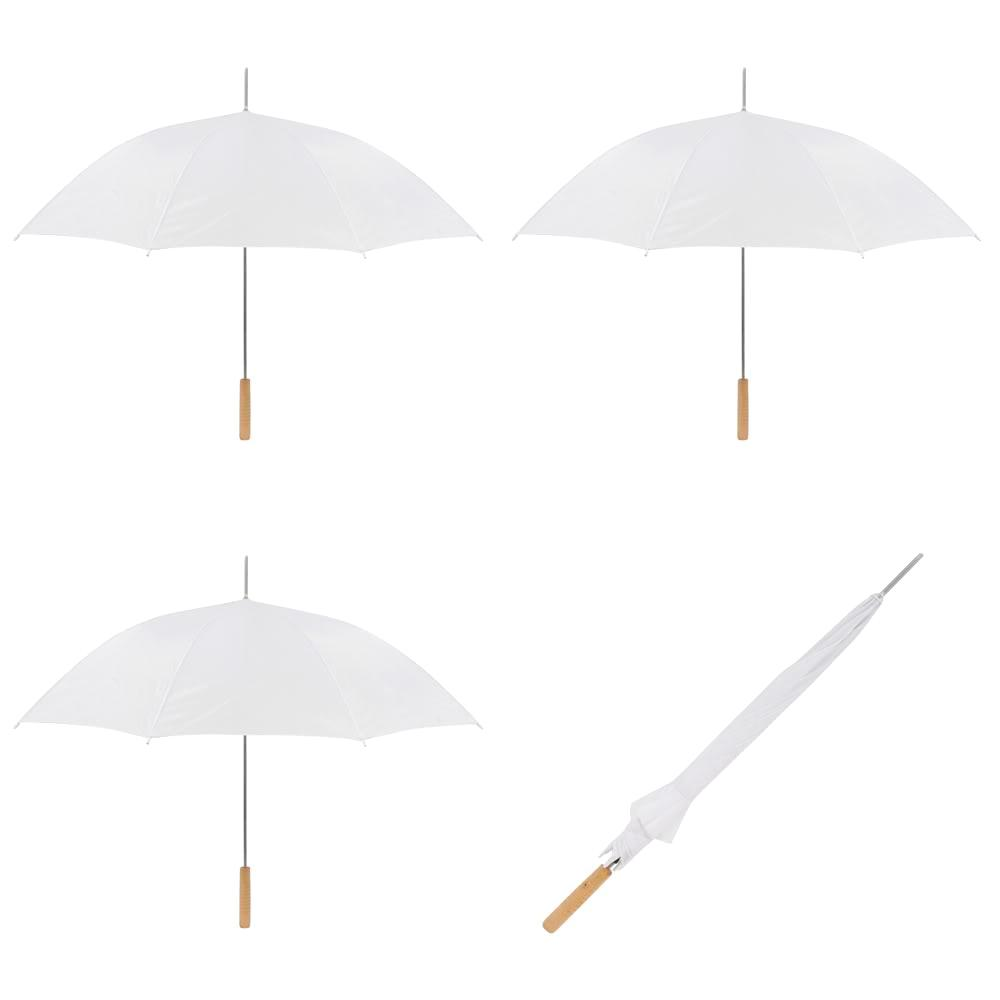 48 In White Manual Open Wedding Umbrella 3 Pack