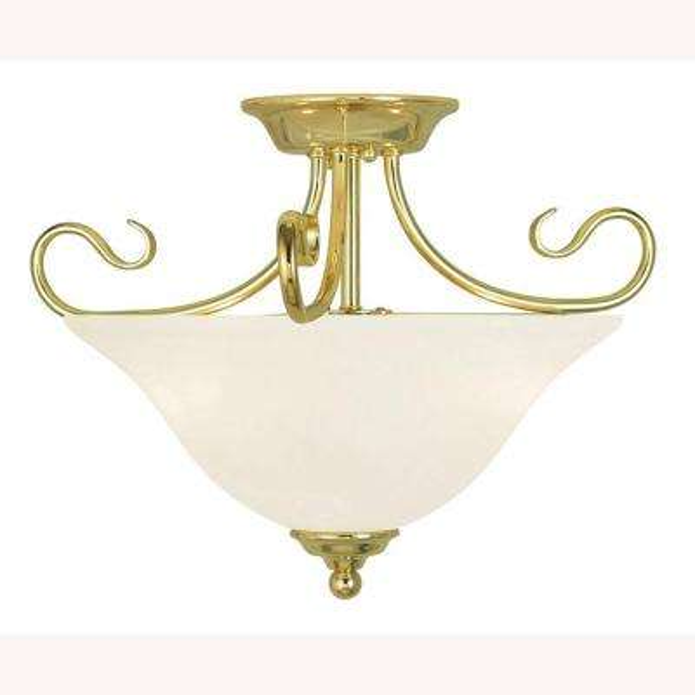 Coronado 2-Light Polished Brass Flushmount