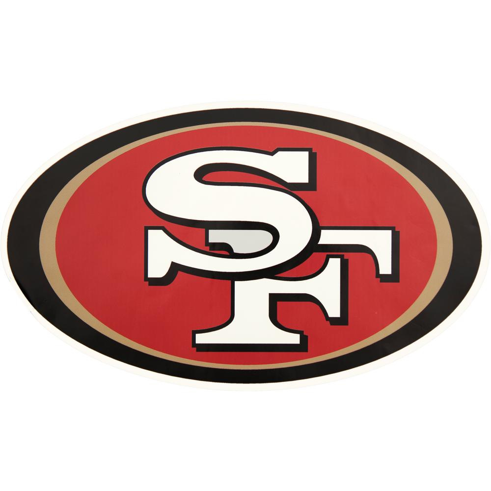 Applied Icon Nfl San Francisco 49ers Outdoor Logo Graphic Small Nfop2801 The Home Depot