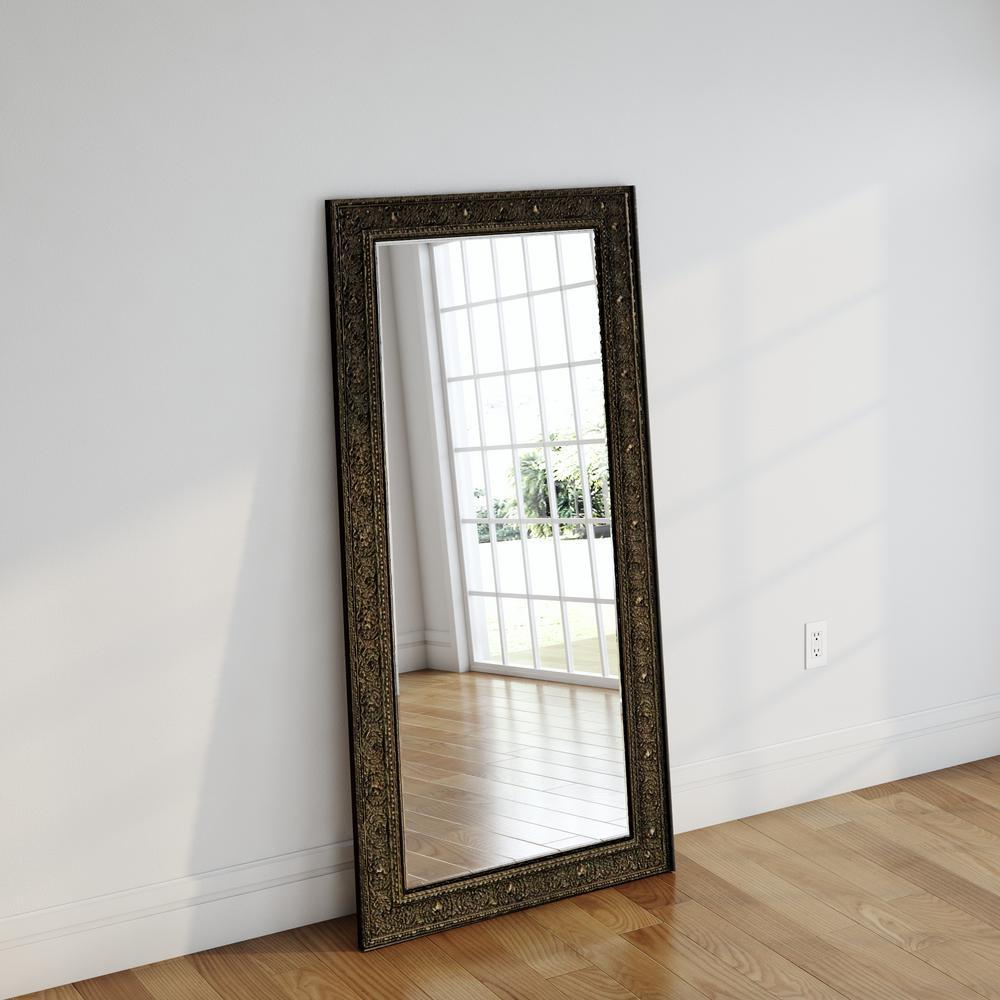d9e36b30f8a2 34 in. x 67.5 in. Opulent Silver Beveled Full Body Mirror-H070BT ...