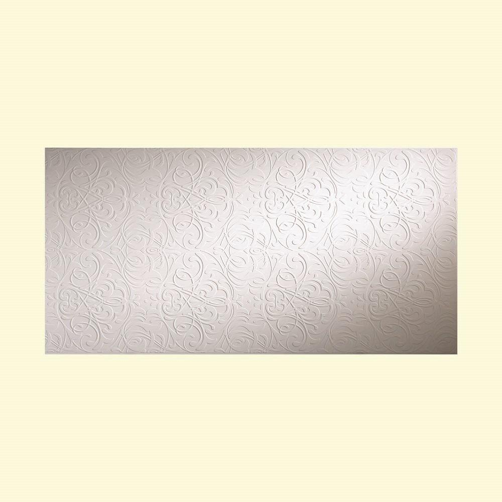 Damask 96 in. x 48 in. Decorative Wall Panel in Matte