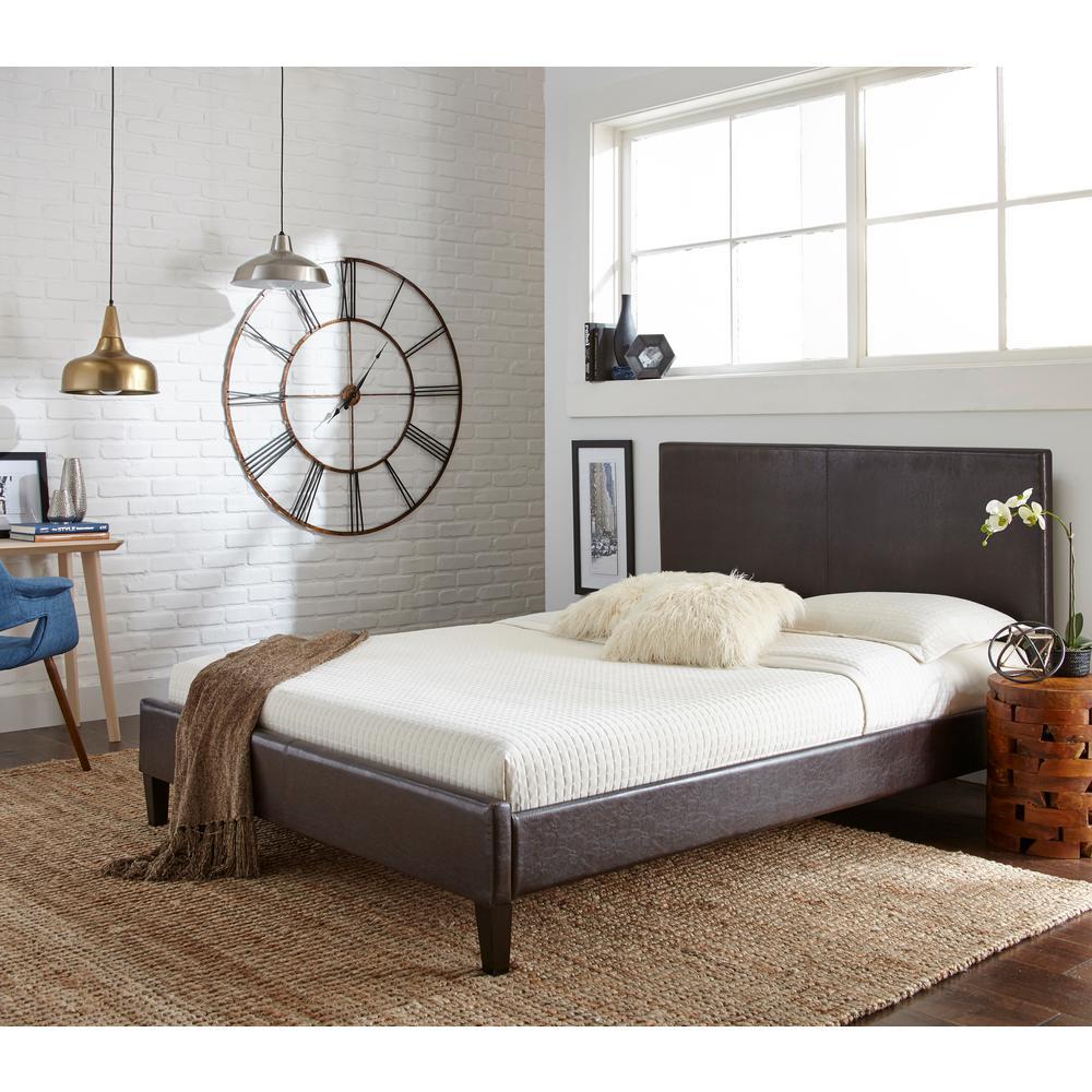 Brown Full Upholstered Bed