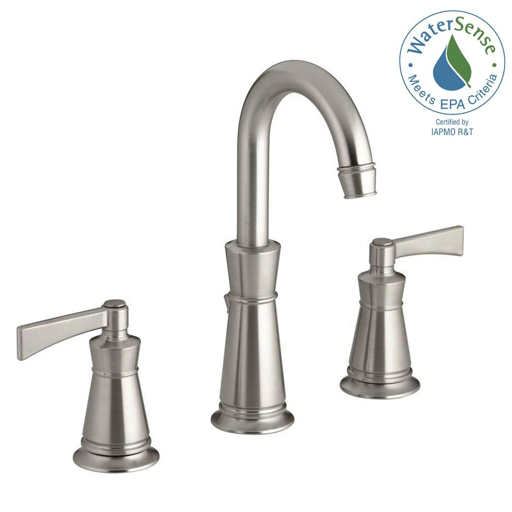 KOHLER Archer 8 in. Widespread 2-Handle Mid-Arc Water-Saving ...