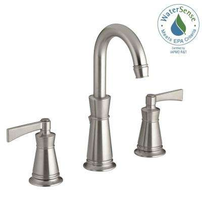 Archer 8 in. Widespread 2-Handle Mid-Arc Water-Saving Bathroom Faucet in Vibrant Brushed Nickel