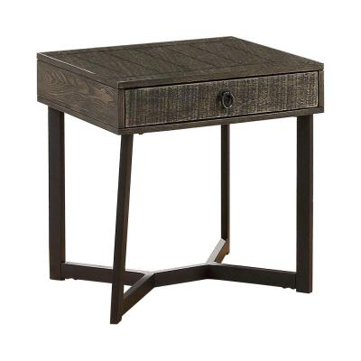 Shailee Dark Oak and Espresso End Table