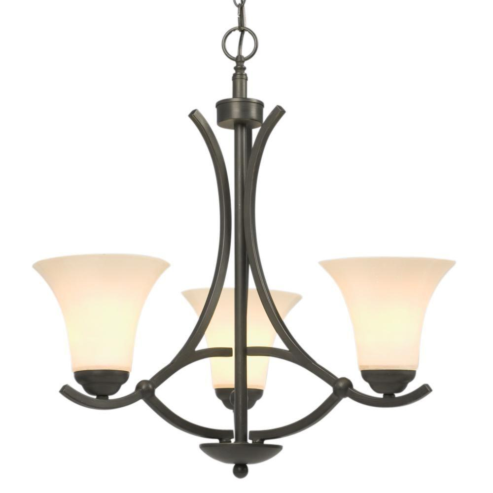 Negron 3-Light Oil-Rubbed Bronze Incandescent Chandelier