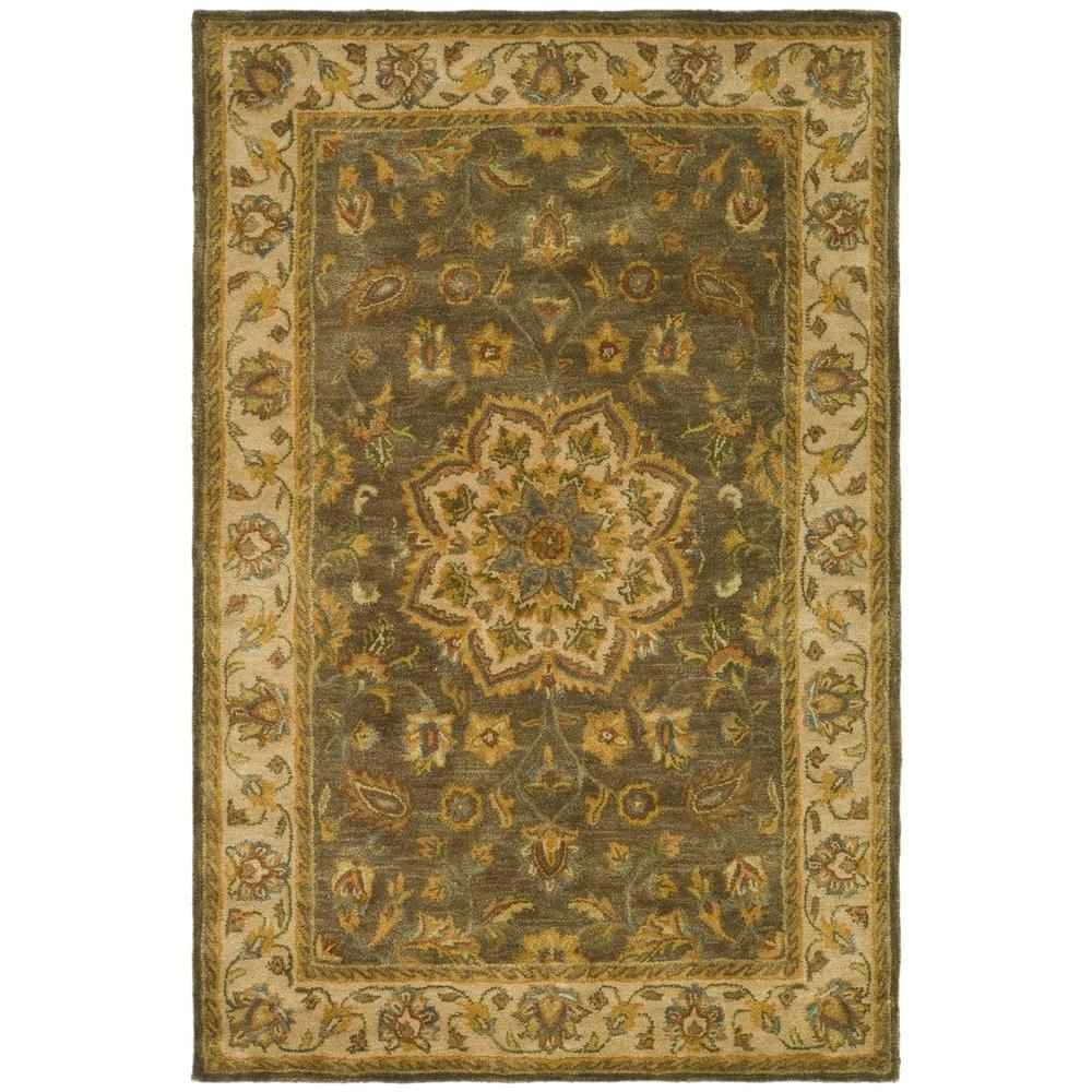 Heritage Green/Taupe 4 ft. x 6 ft. Area Rug