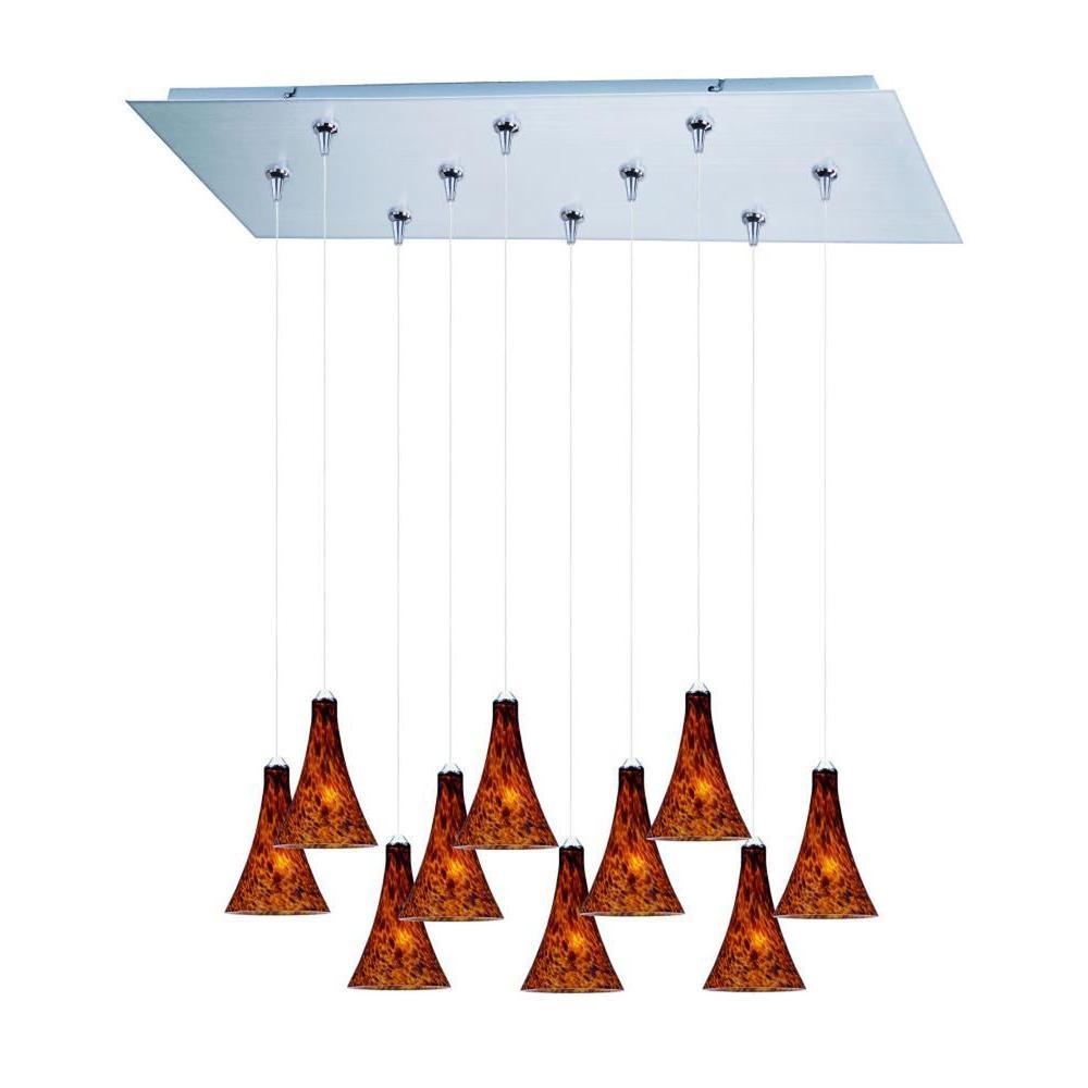 CLI Coit 10-Light Satin Nickel Xenon Pendant