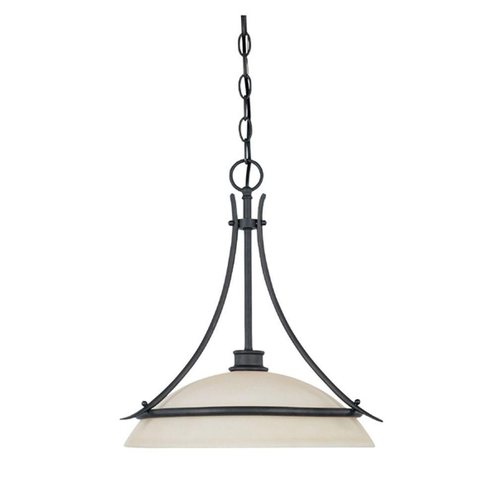 Montreal 1-Light Oil-Rubbed Bronze Hanging Pendant