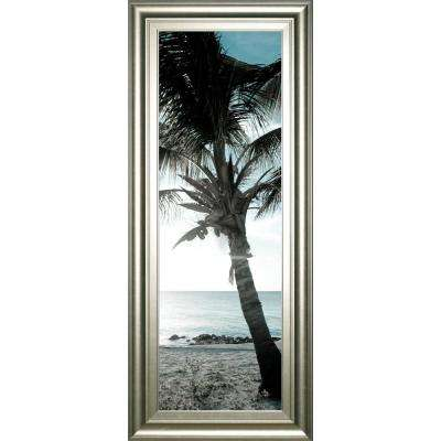 "18 in. x 42 in. ""Cool Bimini Palms I"" by Susan Bryant Framed Printed Wall Art"