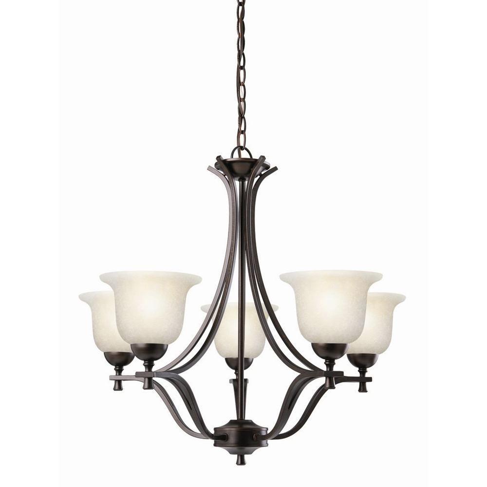 Design House Ironwood 5-Light Brushed Bronze Chandelier
