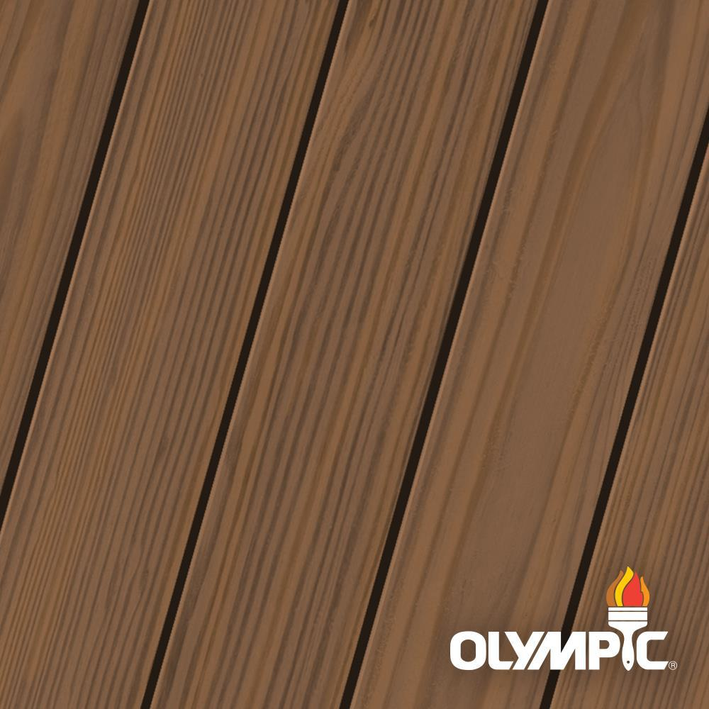 Olympic Maximum 5 gal. Clove Brown Semi-Transparent Exterior Stain and Sealant in One, Browns/Tans -  OLY932-05