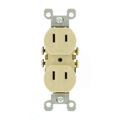 15 Amp 2-Wire Duplex Outlet, Ivory