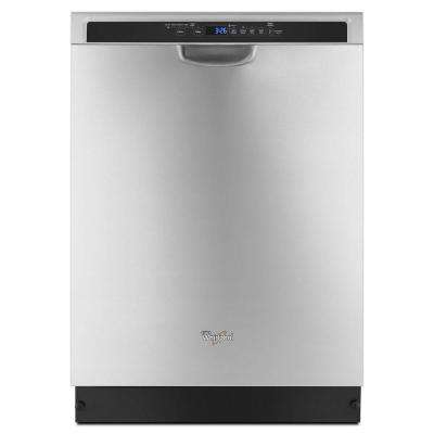 24 in. Front Control Built-in Dishwasher in Monochromatic Stainless Steel with Stainless Steel Tub and 1-Hour Wash Cycle
