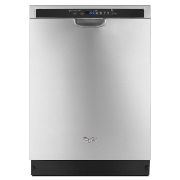 24 in. Monochromatic Stainless Steel Front Control Built-In Tall Tub Dishwasher with Stainless Steel Tub, 50 dBA