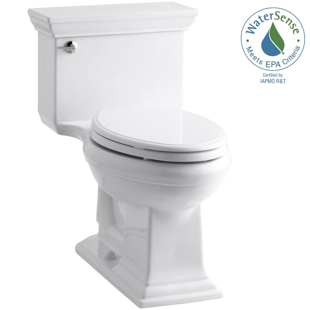 Memoris Stately 1-Piece 1.28 GPF Single Flush Elongated Toilet with AquaPiston