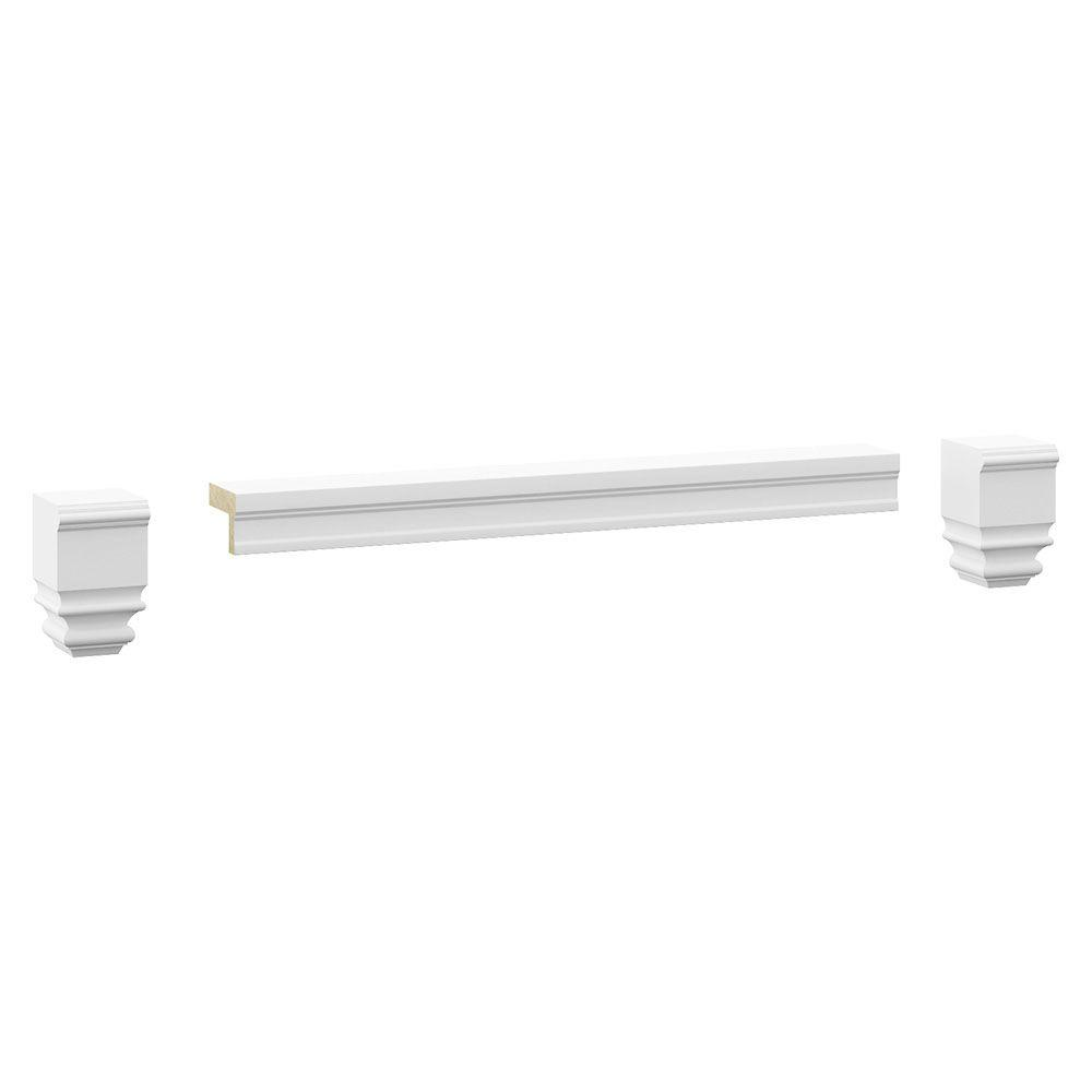 MasterBath Cambridge 36 in. Wx5 in. Hx3-1/4 in. D Moulding Toe Kit in White-ETVK36-CWHT ...