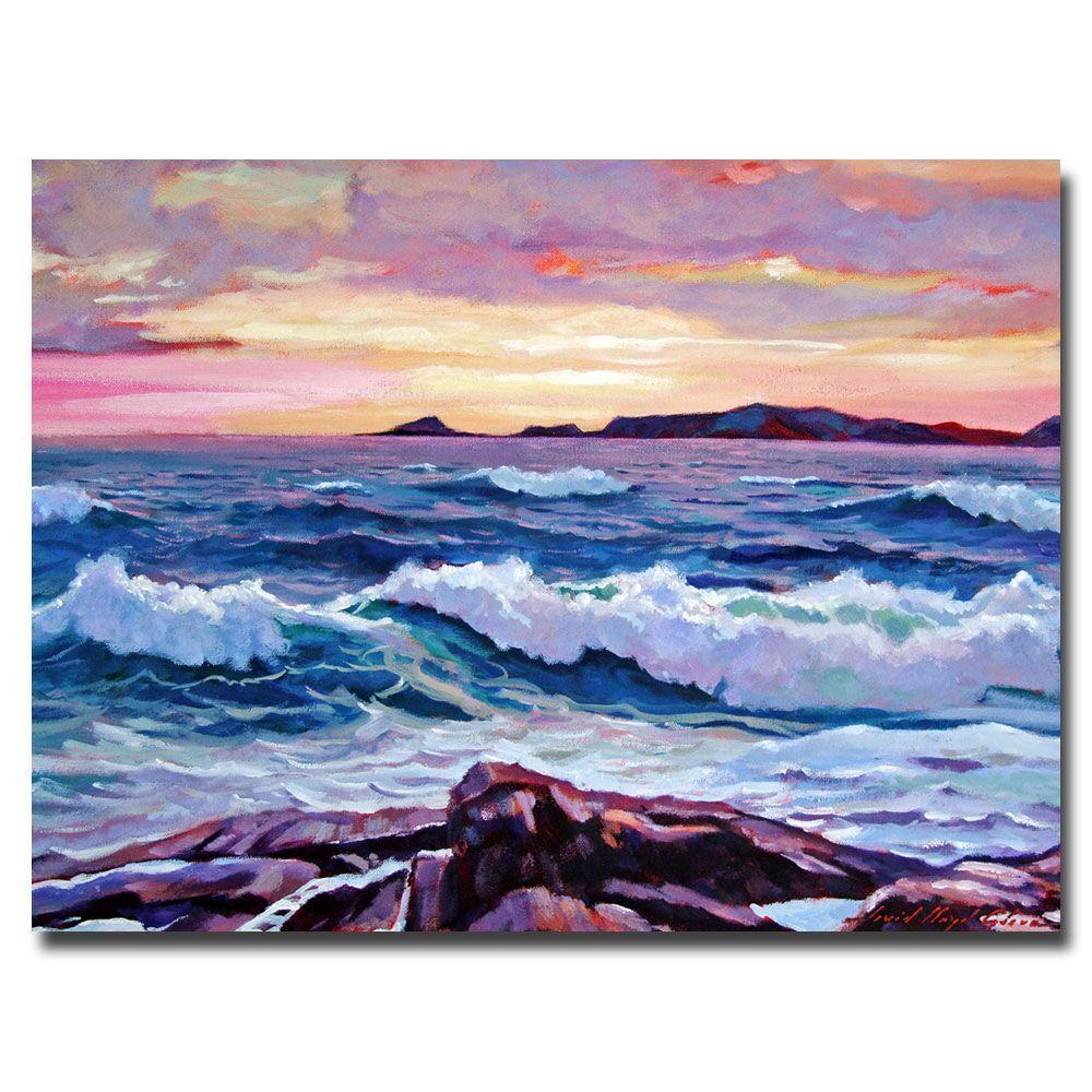 Trademark Fine Art 24 in. x 32 in. California Sunset by David Lloyd Glover Canvas Art