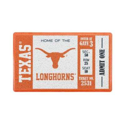 University of Texas 30 in. x 18 in. Vinyl Indoor/Outdoor Turf Floor Mat