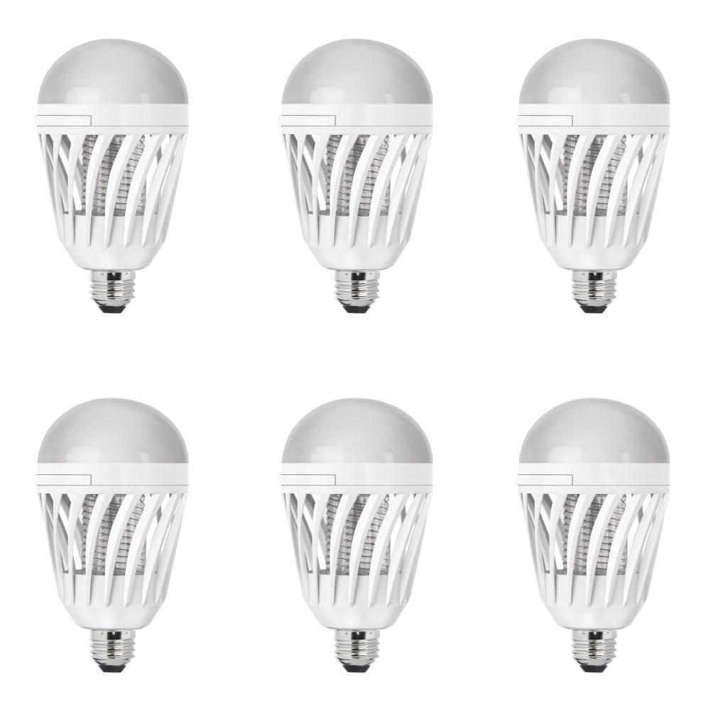 60-Watt Equivalent A19 3-Way LED Bug Zapper Light Bulb (6-Pack)