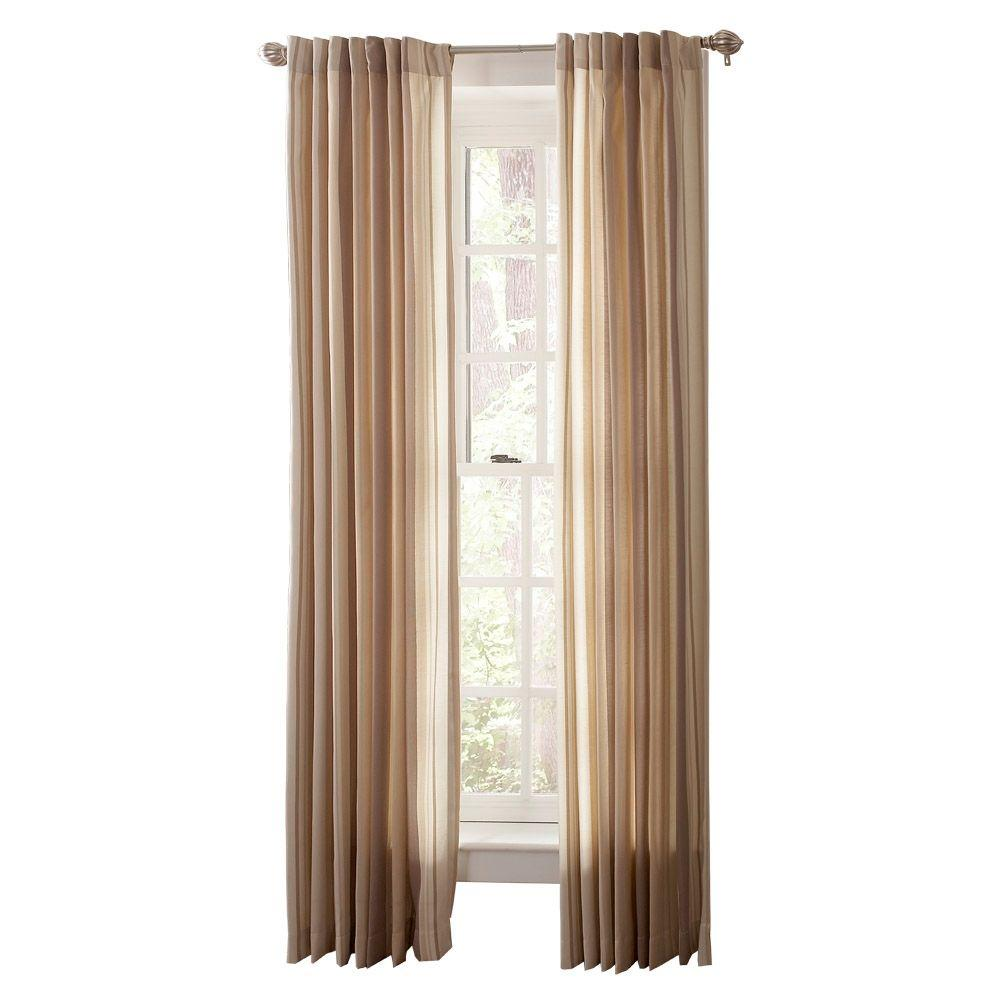 Martha Stewart Living Semi-Opaque Wild Turkey Multi-Stripe Back Tab Curtain