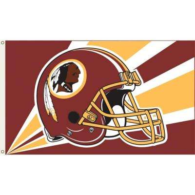 3 ft. x 5 ft. Polyester Washington Redskins Flag