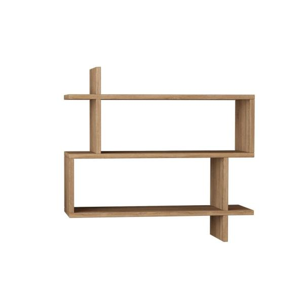 Ada Home Decor Westcott Oak Mid-Century Modern Wall Shelf DCRW2034