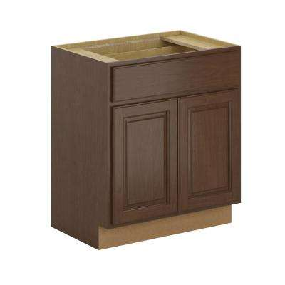 Madison Assembled 30x34.5x21 in. Base Bathroom Vanity Cabinet in Cognac
