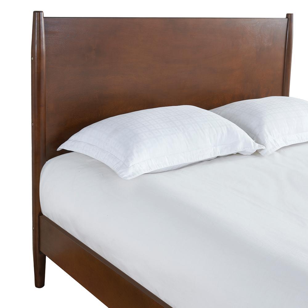 Crosley Landon Gany Full Queen Bed, Landen Queen Upholstered Platform Bed