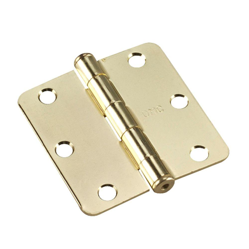 Richelieu Hardware 3 In. X 3 In. Brass Butt Hinge With 1/4 In.  Radius 2820BB   The Home Depot