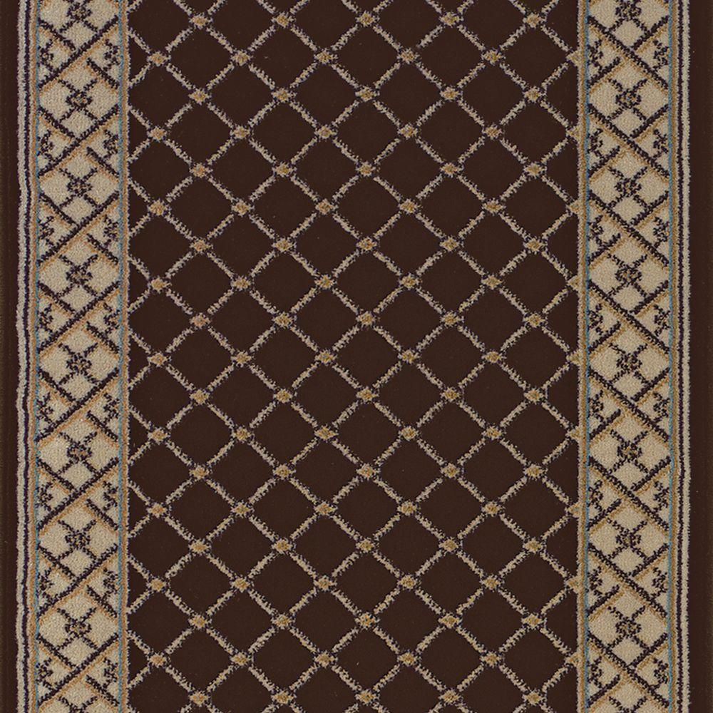 Rug Runner Home Depot: Natco Stratford Bedford Brown 26 In. X Your Choice Length