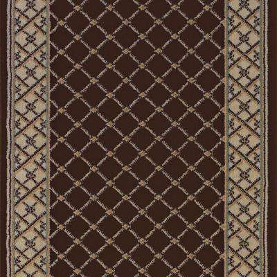 Stratford Bedford Brown 26 in. x Your Choice Length Roll Runner