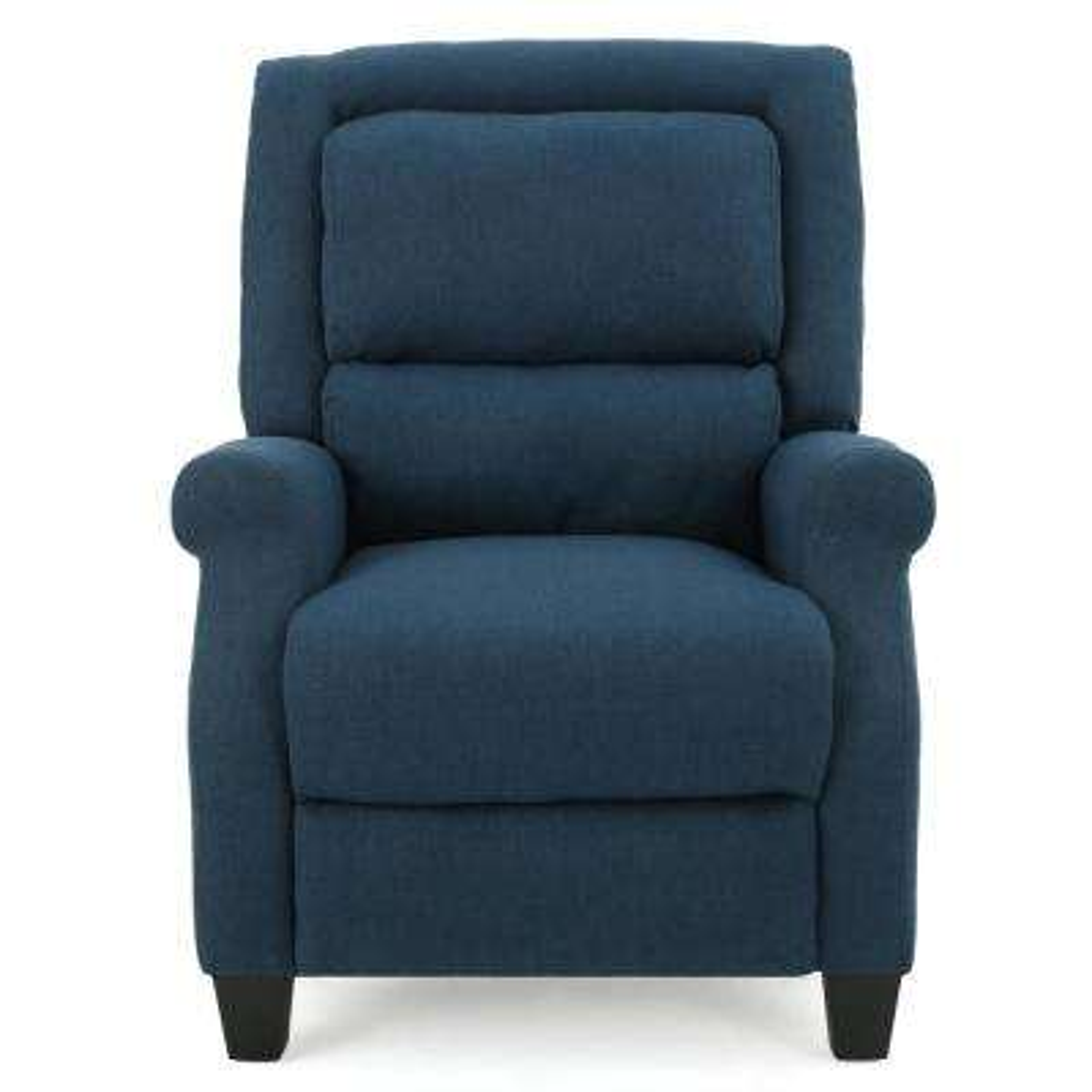 Reddington Dark Blue Fabric Recliner