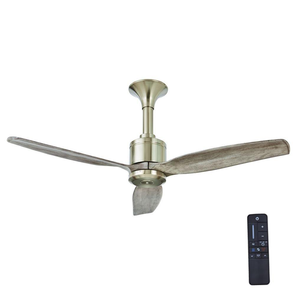 Home Decorators Collection Chaplin 52 In Indoor Brushed Nickel Ceiling Fan With Remote