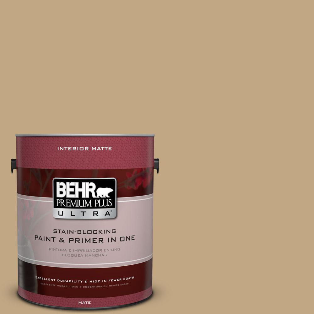 BEHR Premium Plus Ultra 1 gal. #N290-5 Pocket Watch Matte Interior Paint