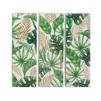 """""""Green and Brown Painted Leaves"""" Wooden Wall Art ((Set of 3))"""