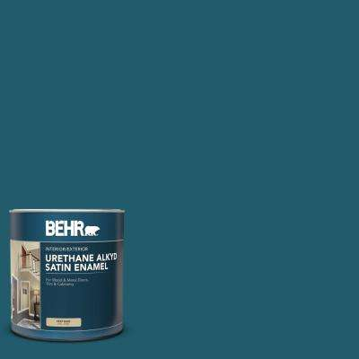 Behr 1 Qt T16 04 Galapagos Satin Enamel Urethane Alkyd Interior Exterior Paint 793004 The Home Depot