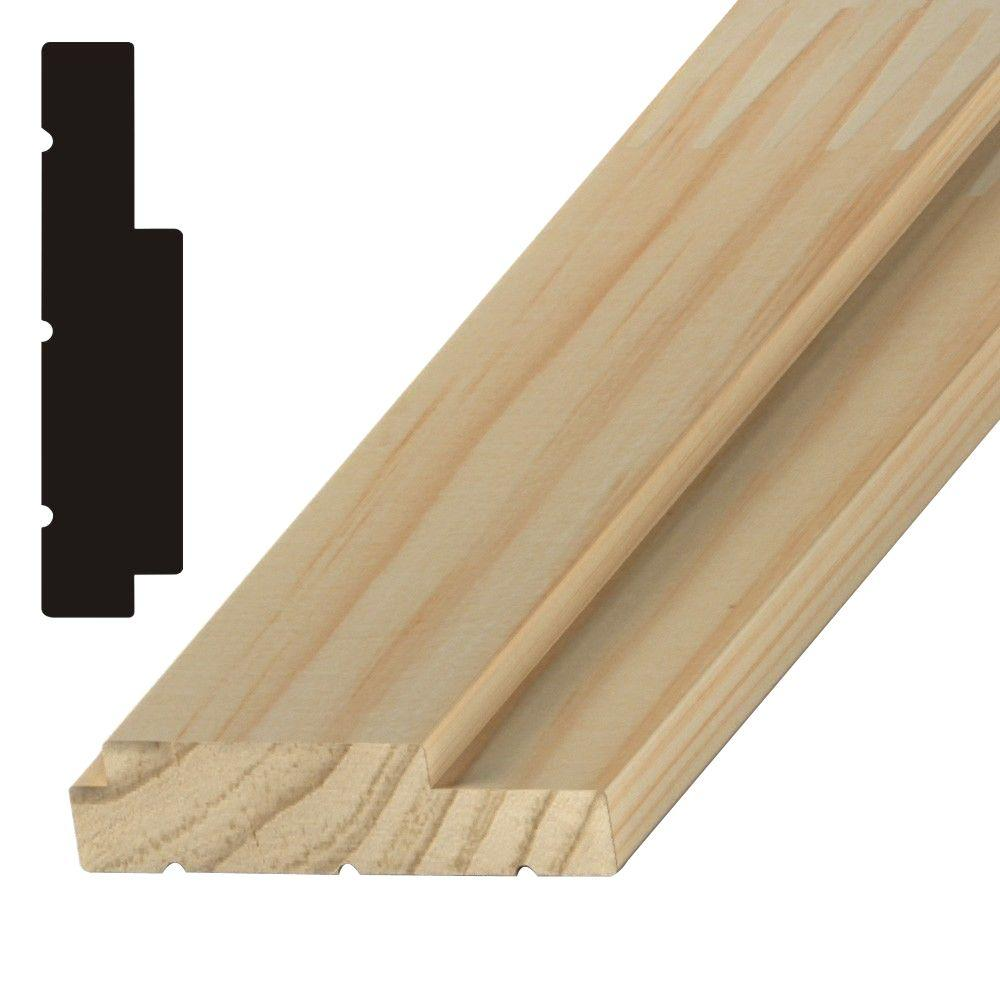 1-1/4 in. x 4-1/8 in. x 84 in. Finger-Jointed Pine Exterior